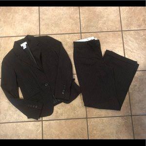 Worthington Black Pinstripe Suit Size 4